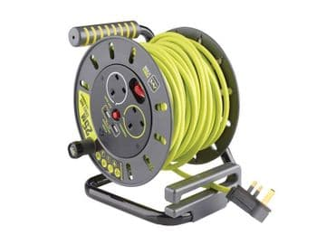 PRO-XT Open Cable Reel 240V 13A 2-Socket & 2 USB (2.1A Shared) 25m